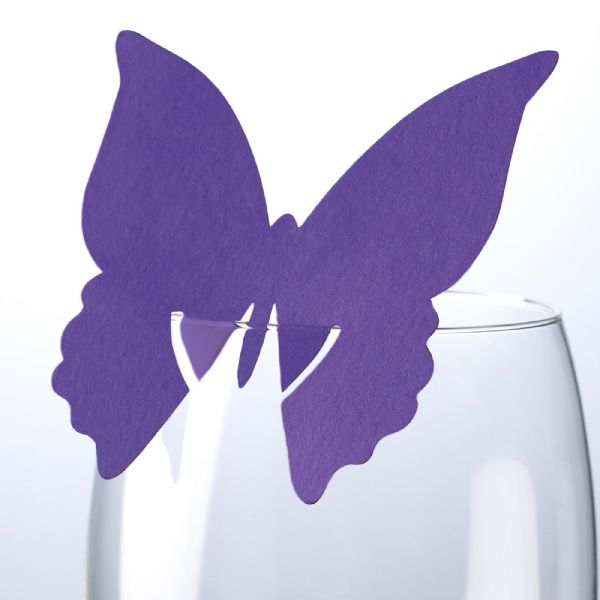 Purple Butterfly Place Cards (10)